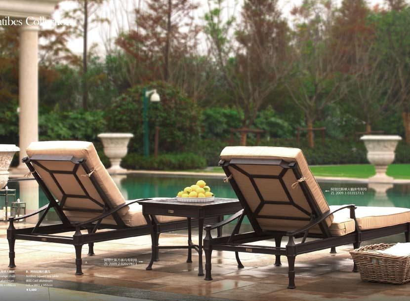 秋千躺椅,铸铝桌椅,收米直播nba足球篮球互动平台家具,沙滩躺椅