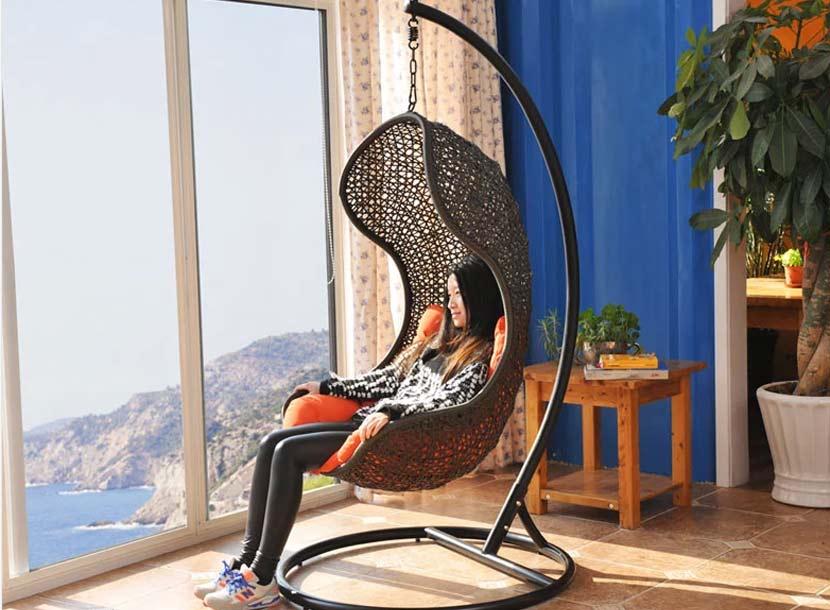 休闲吊篮,收米直播nba足球篮球互动平台桌椅,庭院家具