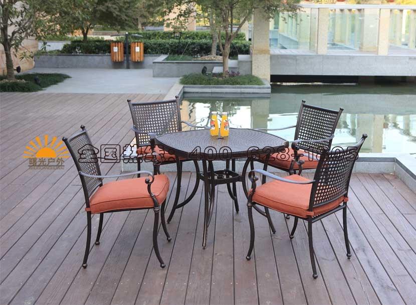 收米直播nba足球篮球互动平台休闲桌椅,铸铝家具