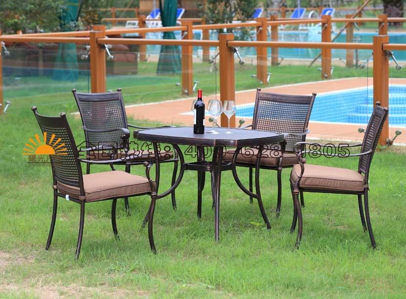 铸铝桌椅,咖啡厅桌椅,酒吧桌椅