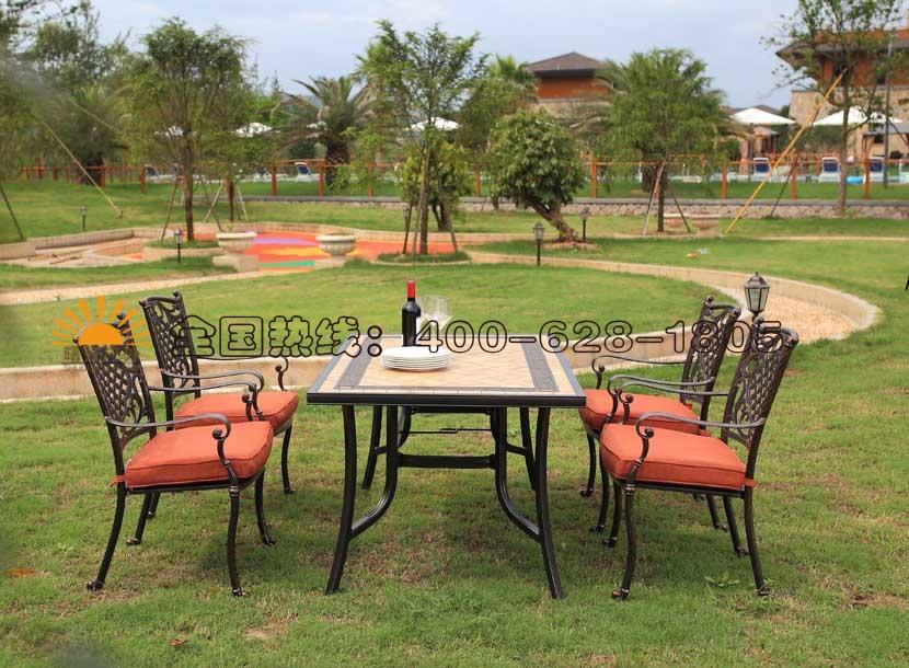 铸铝桌椅,欧式收米直播nba足球篮球互动平台家具,遮阳伞